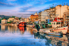 Early morning at Mytilini's port (Dimitil) Tags: mytilini lesvos island greekislands aegean sea port aegeansea northaegeansea morning boats fishingboats fishing buildings neoclassic reflection architecture historic tradition hellas greece