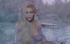 Haven~At the dock.. (*closed for a while*) Tags: havenwarrhol skipstaheli secondlife sl avatar virtualworld dreamy digitalpainting violet lavender flowers blonde romantic portrait headpiece