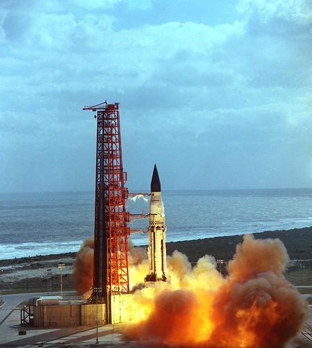 First Launch of Saturn I, Block II (SA-5) – Jan. 29, 1964