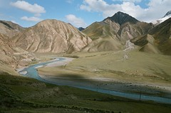 Kyrgyzstan, road to the Chon-Ashu pass. September 2019 (misus1504 (Elena)) Tags: weather travel kyrgyzstan sky day outdoor river light autumn fujicolorpro400h landscape color mountains