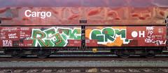 Graffiti on Freights (wojofoto) Tags: amsterdam nederland netherland holland vrachttrein güterzug cargotrain freighttraingraffiti freighttrain freights fr8 graffiti streetart wojofoto wolfgangjosten rsoe