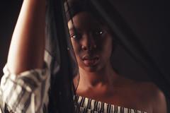 Shy (RickB500) Tags: portrait girl rickb rickb500 model beauty expression face cute hair ebony