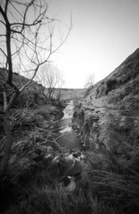 Beck with no name (Richie Rue) Tags: beck stream landscape yorkshire ogden brontecountry pinhole lensless realitysosubtle foma retropan320s blackandwhite monochrome mindfulphotography contemplativephotography outdoors northern