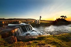 Windy Post Sunset (pixelliott) Tags: dartmoor devon pony water waterfall sunset landscape canon eos 6d cross pool moors britain