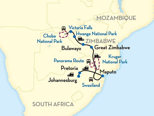 Shongololo Express African Explorer Southern Cross, Vic Falls to Pretoria