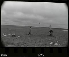 Friday Flashback (Robert Drozda) Tags: nunivakisland alaska beringsea coast historicalsite campsite fishcamp basketball tundra monochrome minoltasrt101 kodaktrix400film 1986 drozda flashbackfriday