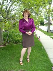 An Introspective Query (Laurette Victoria) Tags: skirt pencilskirt blouse auburn laurette woman hing more us