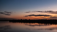 The darkness increases (jan.vd.wolf) Tags: landscape nature outside river sky sunrise twilight darkness water outdoor cloud colorful evening moon peaceful mood reflection atmosphere