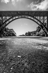 Make the Most of a Million Times No (Thomas Hawk) Tags: america california frederickwpanhorstbridge mendocinocounty russiangulchbridge usa unitedstates unitedstatesofamerica bridge bw river fav10 fav25 fav50 fav100