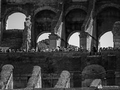190706-037 Le Colisée (2019 Trip) (clamato39) Tags: colisée rome italie italy europe voyage trip bâtiment building landmark patrimoine noiretblanc bw monochrome blackandwhite ruines ruins old