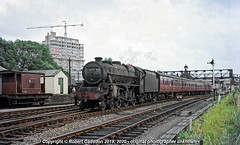 1965 - Leaving Aylesbury.. (Robert Gadsdon) Tags: 1965 aylesburytownstation lms black5 460 44717 greatcentral steam withdrawn scrapped buckinghamshirecountyhall construction