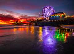 Santa Monica Pier Ferris Wheel Red Orange Yellow Clouds Sunset California! Fine Art Landscape Nature Photography Fuji GFX100!  Elliot McGucken 45EPIC Fuji GFX 100 Hundred Megapixel High Res Images dx4/dt=ic! Fujifilm FUJINON GF 23mm F/4 R LM WR Lens GFX (45SURF Hero's Odyssey Mythology Landscapes & Godde) Tags: santa monica pier ferris wheel red orange yellow clouds sunset california fine art landscape nature photography fuji gfx100 elliot mcgucken 45epic gfx 100 hundred megapixel high res images dx4dtic fujifilm fujinon gf 23mm f4 r lm wr lens