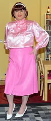 Birgit030079 (Birgit Bach) Tags: skirt rock buttonthrough durchgeknöpft fauxleather kunstleder blouse bluse satin