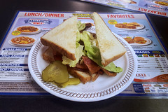 Keeping It Simple (Richard Melton) Tags: blt sandwich bread lettuce tomato bacon waffle house meal plate dish