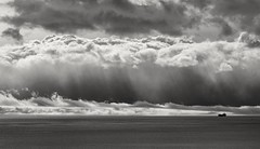 Roiling sky (L@nce (ランス)) Tags: skyscape sky clouds cloudy cloud stormy sea salishsea juandefuca pacific ocean hollandpoint dallasroad victoria canada nikon nikkor bw monochrome