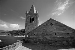 Bell Tower (GColoPhotographer) Tags: bw sanpietro bianconero blackandwhite church portovenere liguria architechture