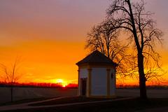 Twilight / Alkonyat (Ibolya Mester) Tags: hungary magyarország hédervár sunset orange tree outdoor chapel peregrinuskápolna canon canoneos600d color colors