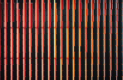 Light in the Dark (jgottlieb) Tags: leica m10 red orange lights black tiles looking straight up seattle amazon building wa washington 35mm summilux fle