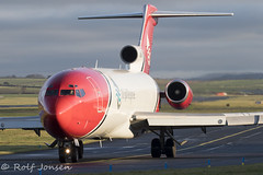 G-OSRB Boeing 727-200F T2 Aviation Prestwick airport EGPK 09.01-20 (rjonsen) Tags: plane airplane aircraft aviation airliner airside taxying taxiing coast guard oil spill response