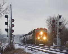 CN 376 (Michael Berry Railfan) Tags: cn2980 cn376 cn canadiannational train freighttrain dorval montreal quebec kingstonsub ge generalelectric gevo es44ac