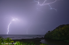 Incoming Evening Storm (David A Jahn) Tags: costarica lightning night ocean pacificocean puntarenas storm stormy