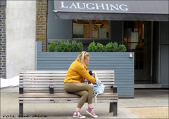 `2866 (roll the dice) Tags: london streetphotography pretty sexy girls sad mad fun funny smile happy reaction people fashion urban unaware unknown england uk classic art canon tourism tourists candid strangers portrait wisdom shops shopping eyes traffic sign food eat blonde chunky southwark se1 bench bush bored surreal natural