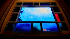 Stained Glass Memory (wbstzone) Tags: stainedglass blue windowview awardtree