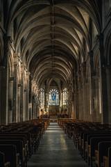 La grande nef (jérémydavoine) Tags: cathedral cathédrale notredame lehavre normandie france architecture light lumière stone pierre nave nef patrimoine church eglise catholic unesco