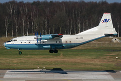 UR-CCP (PlanePixNase) Tags: aircraft airport planespotting haj eddv hannover langenhagen plane antonov an12 aerovis