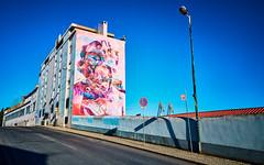 respect (khrawlings) Tags: respect lisbon portugal graffiti building wall paint spray art pink blue poseidon pichiavo classical