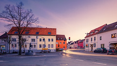 Our city center in Erbach (Frank Lammel) Tags: erbach badcamberg limburgweilburg hessen cityscape citylights longexposure evening light scenery dorfplatz brunnen panorama weitwinkel traffic feierabend verkehr architektur stadtmitte innenstadt cc fineart creativecommons afterworktraffic