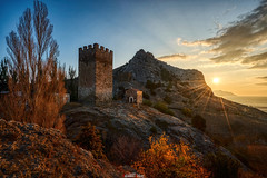 Frederico Astagwera Tower in Sudak (zaxarou77) Tags: frederico astagwera tower sudak russia crimea sony ilce a7 a7m2 carl zeiss cz carlzeiss 1635 f4 sel fe a7mii architecture travel outdoor color sunset sun clouds autumn ilce7m2 variotessar t mm za oss sel1635z