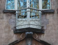 BRUXELLES  - Art nouveau / Arch. Fernand Lefever (-/-) (Julio Herrera Ibanez) Tags: artnouveau 1081bruxelles 1081koeelberg belgiage architecture ventanas fenêtres balcons ferronnerie sgraffite