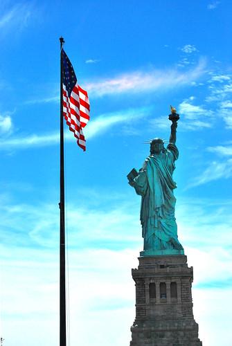 Flag & Statue