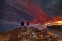 """"""" HONEYMOON SUNRISE """" (Wiffsmiff23) Tags: neistpointlighthouse isleofskye dramatic drama scotland lighthouse honeymoon sunrise fire"""