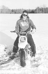 2018121901_06 (onebellboy) Tags: wholerollproject wwwellsworthbellcom onebellboy kodak trix nikonf5 50mmf18g diafine nikonsupercoolscan4000 blackandwhite monochrome grain outdoors maine yamah bigwheel bw80 exeter winter snow dirtbike