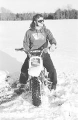2018121901_05 (onebellboy) Tags: wholerollproject wwwellsworthbellcom onebellboy kodak trix nikonf5 50mmf18g diafine nikonsupercoolscan4000 blackandwhite monochrome grain outdoors maine yamah bigwheel bw80 exeter winter snow dirtbike
