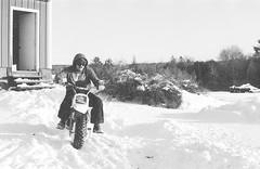 2018121901_19 (onebellboy) Tags: wholerollproject wwwellsworthbellcom onebellboy kodak trix nikonf5 50mmf18g diafine nikonsupercoolscan4000 blackandwhite monochrome grain outdoors maine yamah bigwheel bw80 exeter winter snow dirtbike