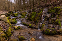 Tiny Waterfall (crrast) Tags: tiny waterfall sinter terrace steps water river stream creek brook franconia franken ndfilter nd filter nikon d5600 1020mm ultra wide angle green moss trees wood forest sticks long exposure morning sky hdr lightroom photo photography landscape trip hiking lens path scenery beautiful warm spring nikkor