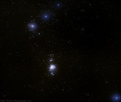 Orion - miekat, vyöt ja sumut (jyrki huusko) Tags: orion astrophotography canon sigma finland stars sky winter night alnitak alnilam mintaka rigel m42