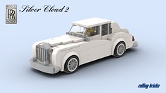 Rolls Royce Silver Cloud 2 -INSTRUCTIONS- (Rolling bricks) Tags: retro lego speed champions speedchampions oldtimer car legocar vintage classic classiccar instructions 6studs 6wide minifig minifigure city moc vehicle legocity luxury saloon
