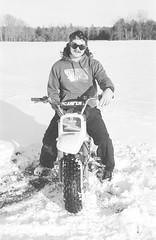 2018121901_07 (onebellboy) Tags: wholerollproject wwwellsworthbellcom onebellboy kodak trix nikonf5 50mmf18g diafine nikonsupercoolscan4000 blackandwhite monochrome grain outdoors maine yamah bigwheel bw80 exeter winter snow dirtbike