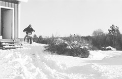 2018121901_11 (onebellboy) Tags: wholerollproject wwwellsworthbellcom onebellboy kodak trix nikonf5 50mmf18g diafine nikonsupercoolscan4000 blackandwhite monochrome grain outdoors maine yamah bigwheel bw80 exeter winter snow dirtbike
