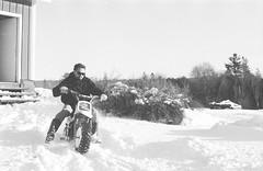 2018121901_14 (onebellboy) Tags: wholerollproject wwwellsworthbellcom onebellboy kodak trix nikonf5 50mmf18g diafine nikonsupercoolscan4000 blackandwhite monochrome grain outdoors maine yamah bigwheel bw80 exeter winter snow dirtbike