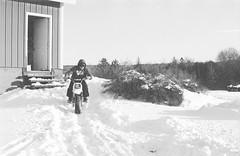 2018121901_17 (onebellboy) Tags: wholerollproject wwwellsworthbellcom onebellboy kodak trix nikonf5 50mmf18g diafine nikonsupercoolscan4000 blackandwhite monochrome grain outdoors maine yamah bigwheel bw80 exeter winter snow dirtbike