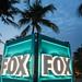 Fox Sports South Beach Miami Florida Super Bowl Television Set