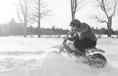 2018121901_21 (onebellboy) Tags: wholerollproject wwwellsworthbellcom onebellboy kodak trix nikonf5 50mmf18g diafine nikonsupercoolscan4000 blackandwhite monochrome grain outdoors maine yamah bigwheel bw80 exeter winter snow dirtbike