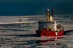 Icebreaker (langdon10) Tags: canada coastguard desgroseilliers lacstpierre quebec stlawrenceriver water ice icebreaker ship snow winter