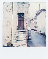 (gryphon1911 [A.Live]) Tags: film polaroid sx70 instant sonar church architecture