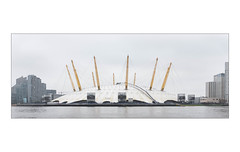 The Built Environment, East London, England. (Joseph O'Malley64) Tags: thebuiltenvironment newtopography newtopographics buildings structures entertainmentfacilities hotels offices housing homes dwellings millenniumdome o2dome o2arena thames riverthames hightide panorama panoramic landscape embankment suspendedroof pvcroofing airconditioningunits airconditioning greenwichpeninsula southeastlondon london england uk britain british greatbritain overcast urban millennium achitecture architecturalphotography documentaryphotography britishdocumentaryphotography fujix fujix100t accuracyprecision